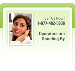 Call us now! 1-877-482-5838 Operators are standing by.